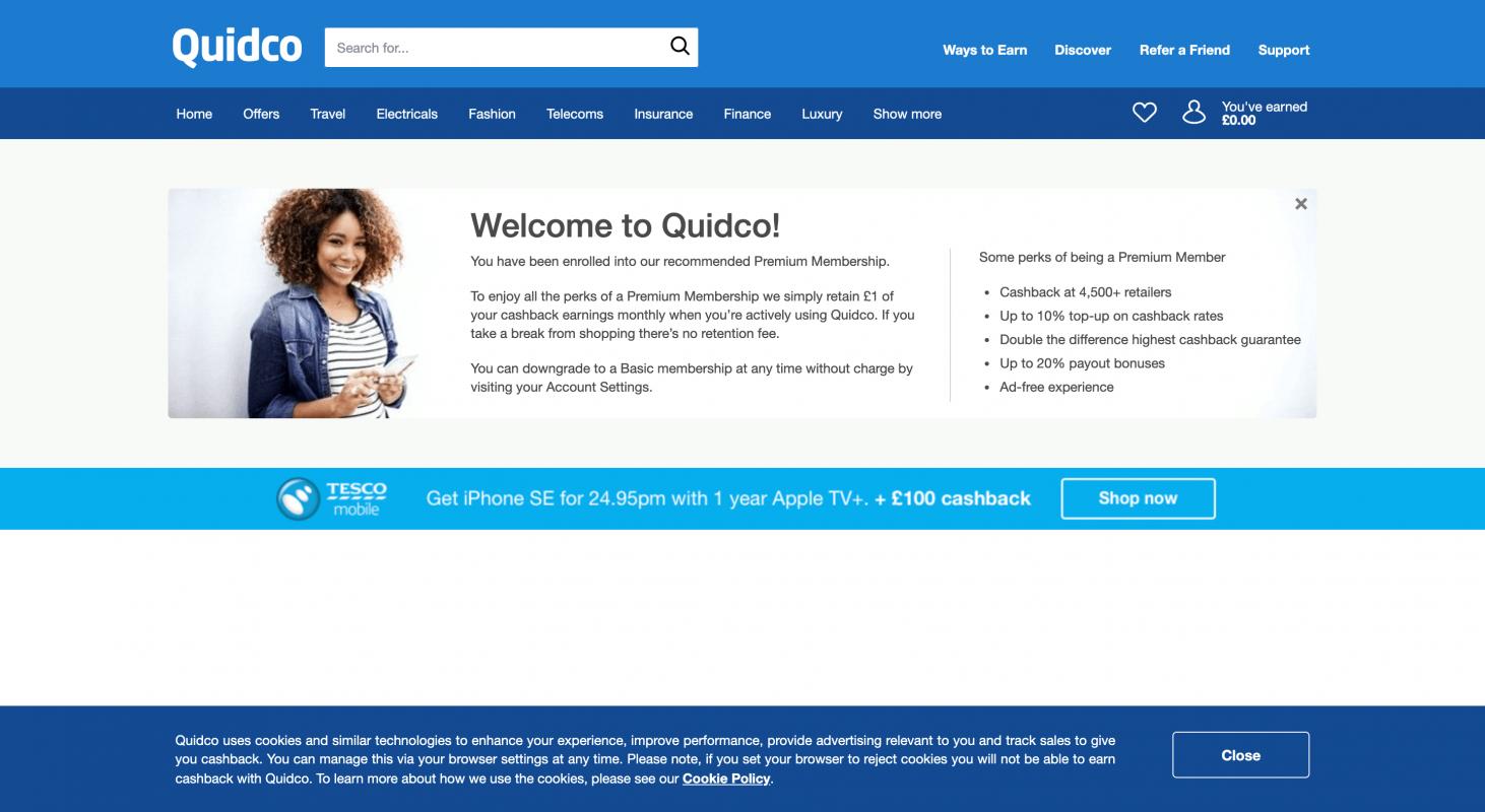 英國數一數二嘅CashBack回贈網 - Quidco