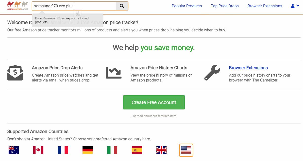 Amazon買嘢必備 — camelcamelcamel:包你試過一定愛上!
