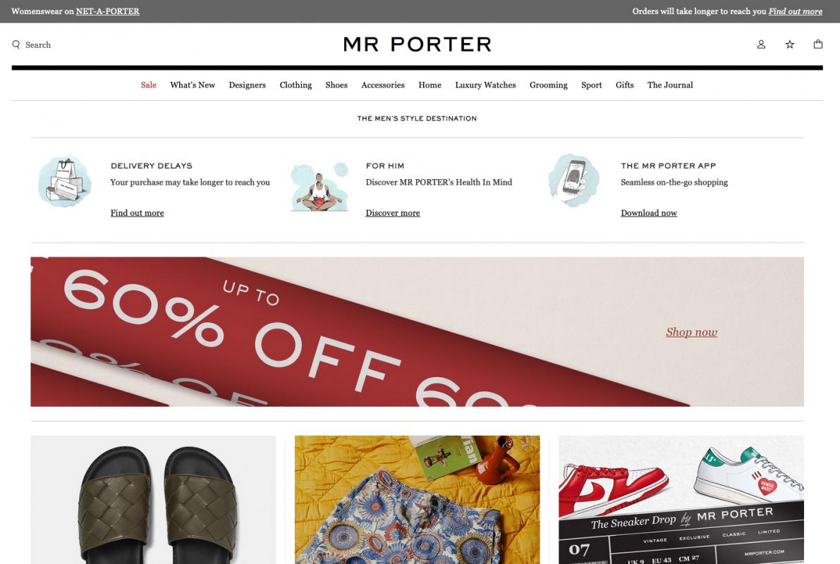低至4折!英國大型男裝網購商MR PORTER夏季大減價,衫褲鞋襪乜都有!【已完結】