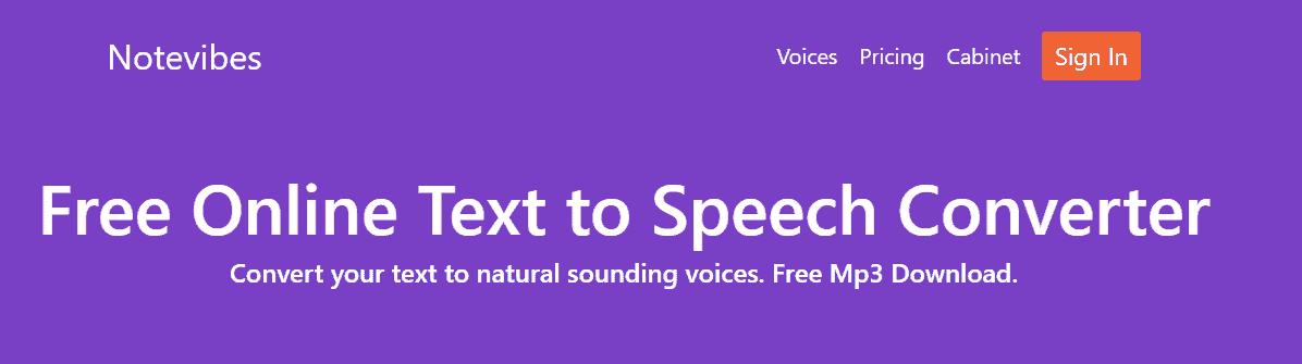 活用Notevibes文字轉語音工具,製作聲音檔案