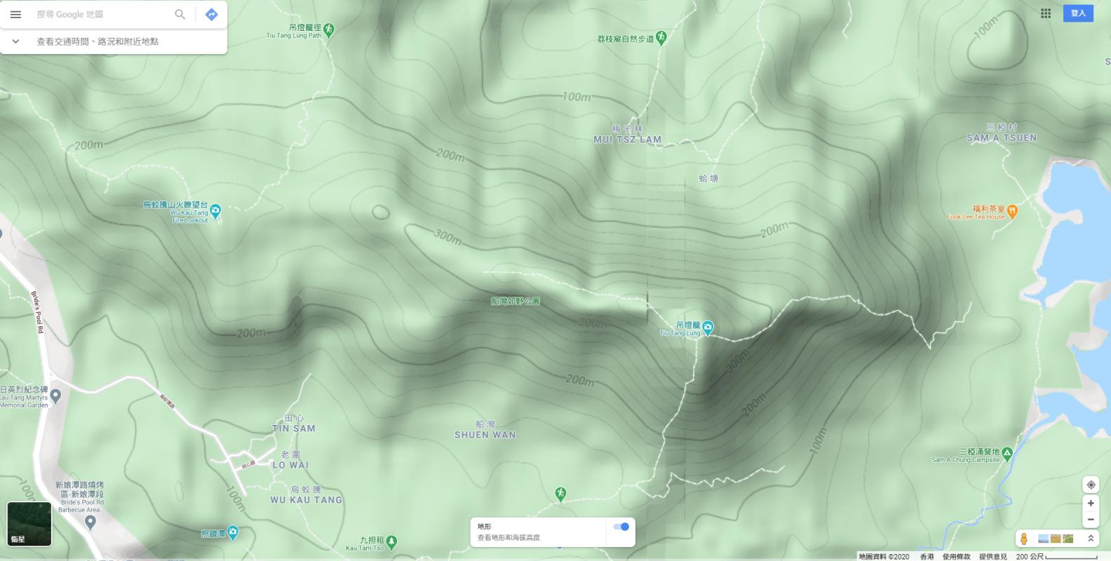 仲用實體地圖?行山必備電話地圖 TrailWatch