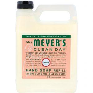 Mrs. Meyers Clean Day, 洗手液,天竺葵氣味,975 ml