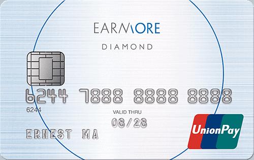 【2021信用卡】Earnmore銀聯信用卡,一卡在手,拎足迎新,食盡回贈!